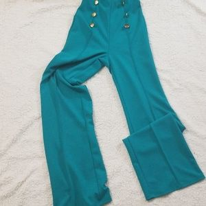 Green stretch high waisted akira military pants